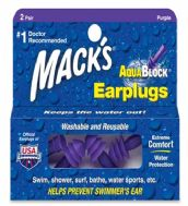 Mack's AquaBlock - Purple - 2 Pair Box